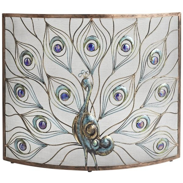 Pier 1 Peacock Fireplace Screen is as durable as it is opulent