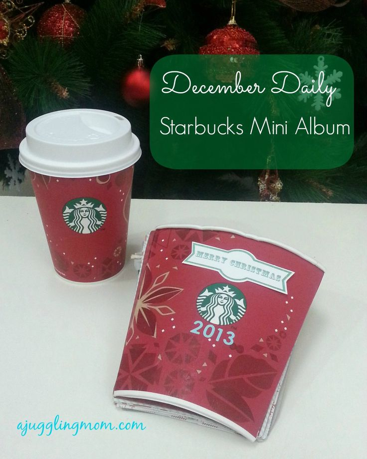 December Daily - Mini Album made with Starbucks Christmas cup