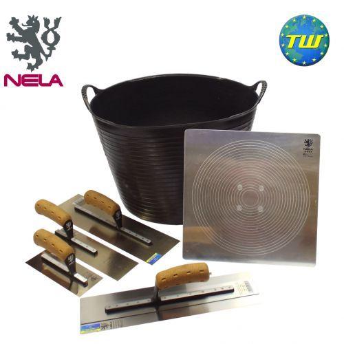 "6pc Professional NELA 16"" Plasterer Tool Set - Plastering Tool Kit 5 http://www.twwholesale.co.uk/product.php/section/10327/sn/Pro-Plasterer-Tools-5"