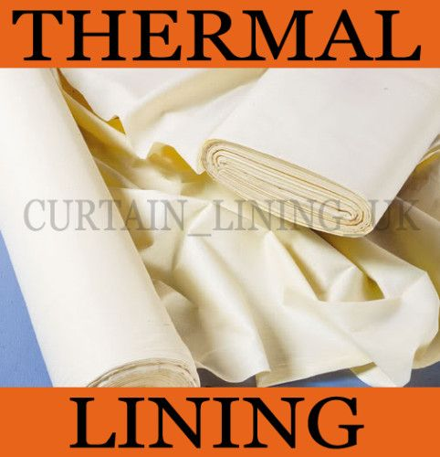 Insulating Thermal Curtain Lining Fabric By The Metre | eBay