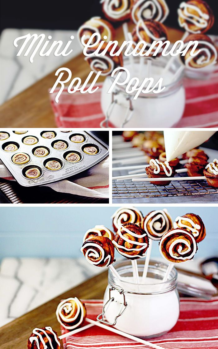 Mini Cinnamon Roll Pops, inspired by the #Ziploc #HolidayCollection | #food #dessert #recipe