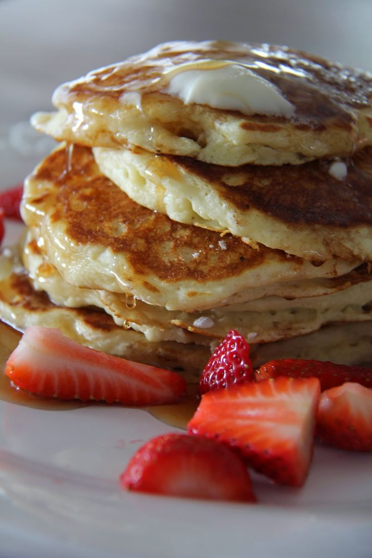 These are the only pancakes I will ever make ever again... Probably. :) I have added frozen and dried berries, still good. A Bountiful Kitchen: Sour Cream Pancakes