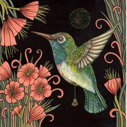 Anita Inverarity | INK on illustration board | Jewel