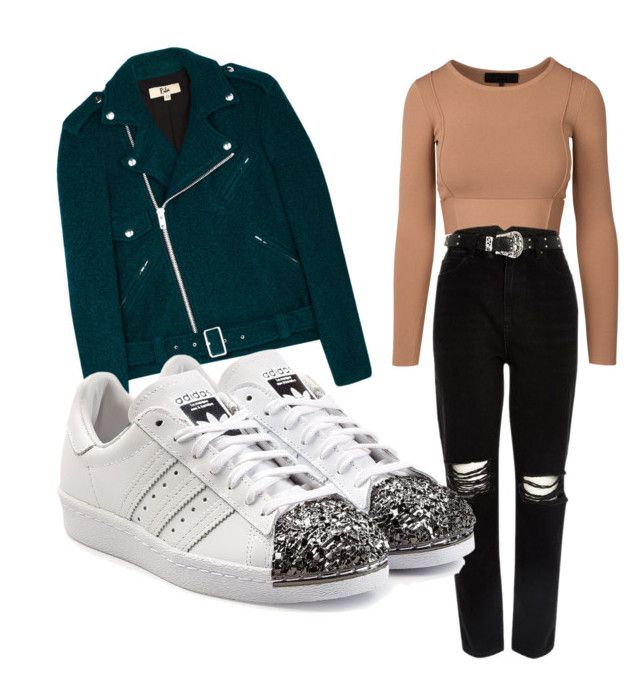 """Be casual"" by fpantopikou on Polyvore featuring River Island, Rika and adidas Originals"