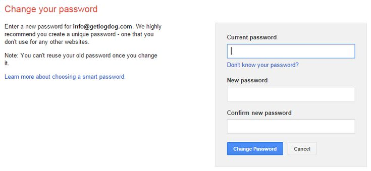 """Change your password. Sign in to My Account. Under """"Sign-in & security,"""" select Signing in to Google. Choose Password. If you see a prompt to sign in again, sign in. Enter your new password, then select Change Password."""