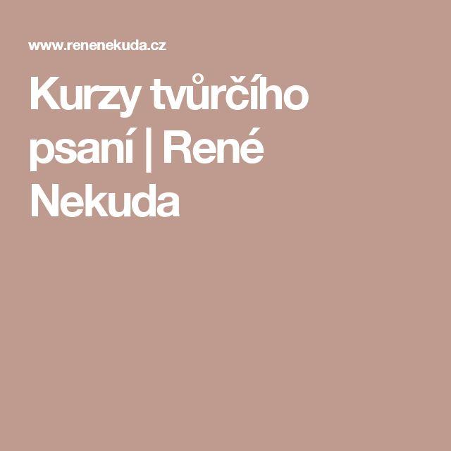 Kurzy tvůrčího psaní | René Nekuda
