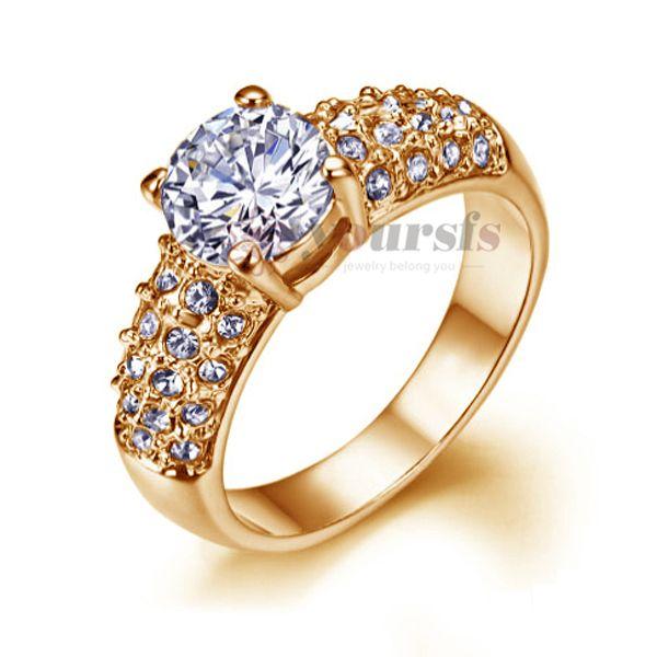 VOGEM alianca полноценно Роскошь Обручальные кольца Блестящий Циркон Модные Обручальные Кольца Для Женщин Интернет-Магазины Индии