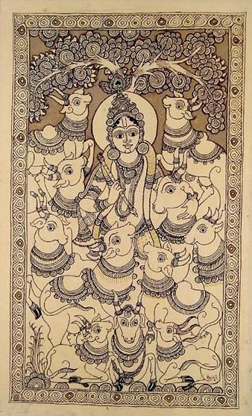 Indian Painting Styles...Kalamkari Paintings (Andhra Pradesh)-2krishna.jpg