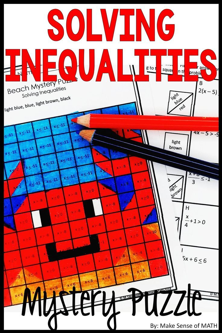 Check Out This Fun Solving Inequalities Activity Students Will Also Be Abl Solving Inequalities Activities Maths Activities Middle School Solving Inequalities