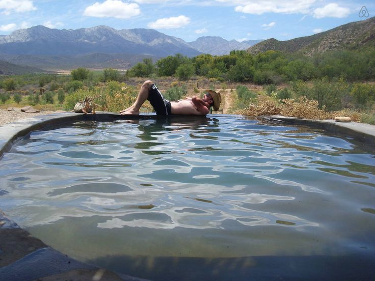 The room with the best view, our fresh water pool with views over the Olifants Valley and the Swartberg mountains