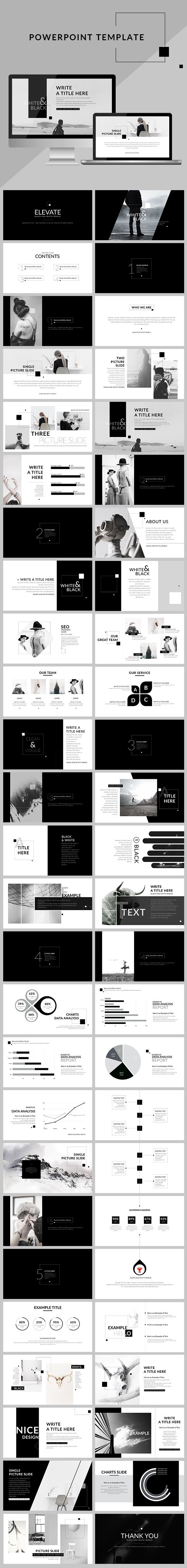 Black & White - Creative clean Powerpoint Presentation Template. Download here: https://graphicriver.net/item/black-white-creative-clean-powerpoint-presentation/16990669?ref=ksioks