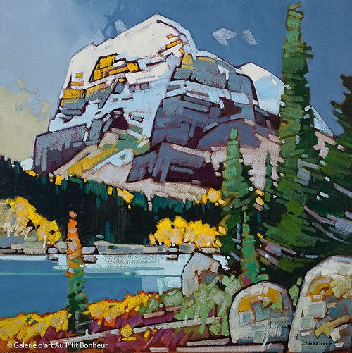 Cameron Bird, 'Passing Storm, Icefield Parkway', 36'' x 36''   Galerie d'art - Au P'tit Bonheur - Art Gallery