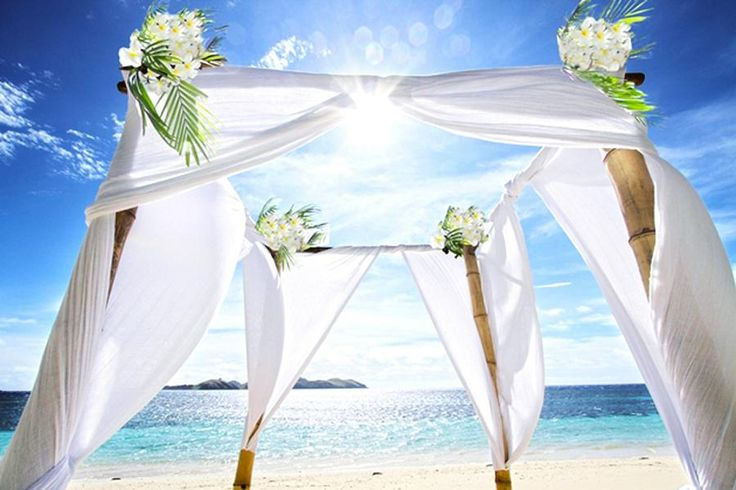 Tokoriki Island Resort Fiji wedding package. From £3,829. This Fijian island in the stunning South Pacific is a luxury, boutique hotel fringed with glorious white sandy beaches, making it the perfect place for a romantic and picturesque wedding ceremony.  The personal service will ensure that your wedding day and your entire stay on this Pacific island are both very, very special.     https://www.travelnation.co.uk/tours/tokoriki-island-resort-fiji-wedding-package