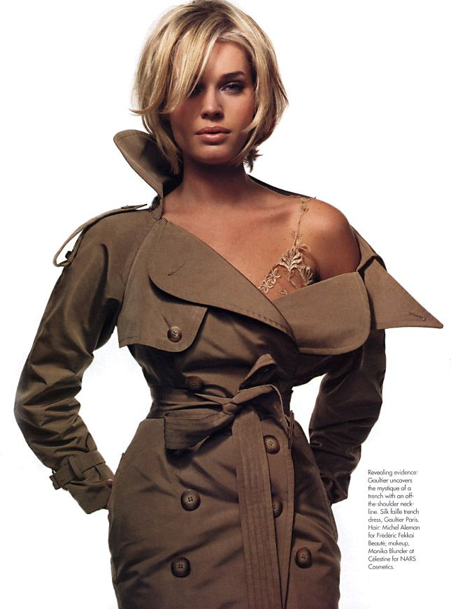 Gaultier couture trench. Elle US 2004