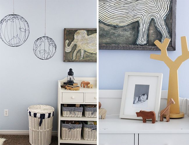 hanging globes for explorer or safari kids room