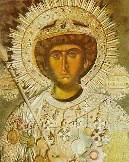 SAINT GEORGE  Byzantine art - wonderful details of the medals