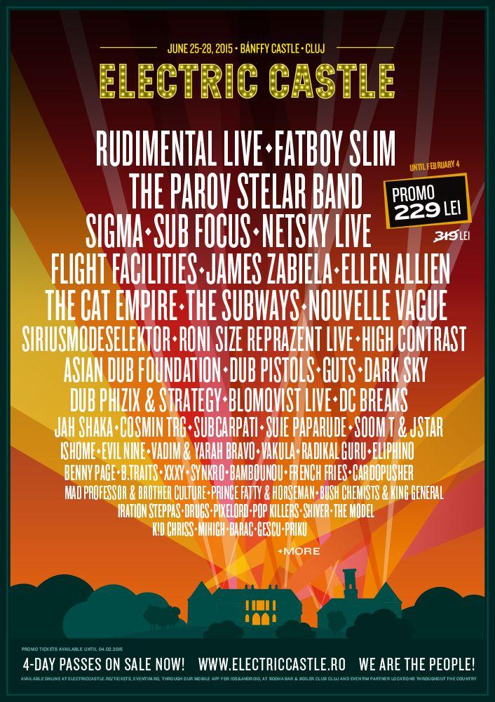 Rudimental si Sigma confirmati la Electric Castle Festival 2015
