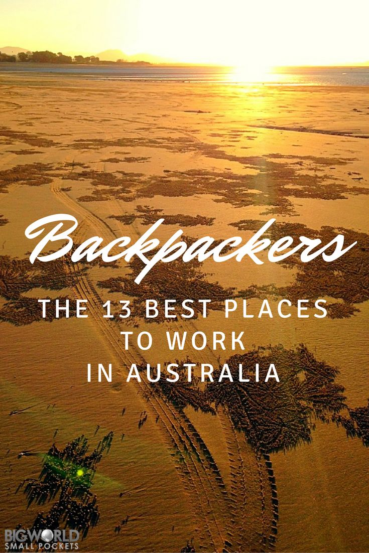 If you're a backpacker looking for work in Australia, I definitely recommend trying to score a job in one of these great locations {Big World Small Pockets}