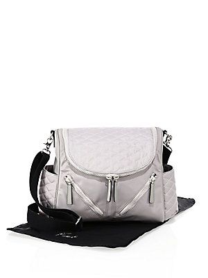 Rebecca Minkoff Jude Quilted Nylon Diaper Bag - Grey