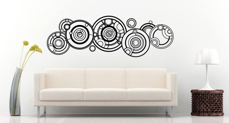 New Doctor Who Gallifreyan Name Wall Decal Black Wall Stickers Large 140cm X 46cm by designs4walls on Etsy https://www.etsy.com/listing/233553221/new-doctor-who-gallifreyan-name-wall
