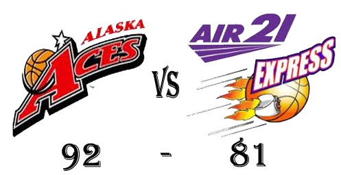 Alaska Aces win against Air21 Express in Game 25 of 2012-2013 PBA Philippine Cup Elimination Round