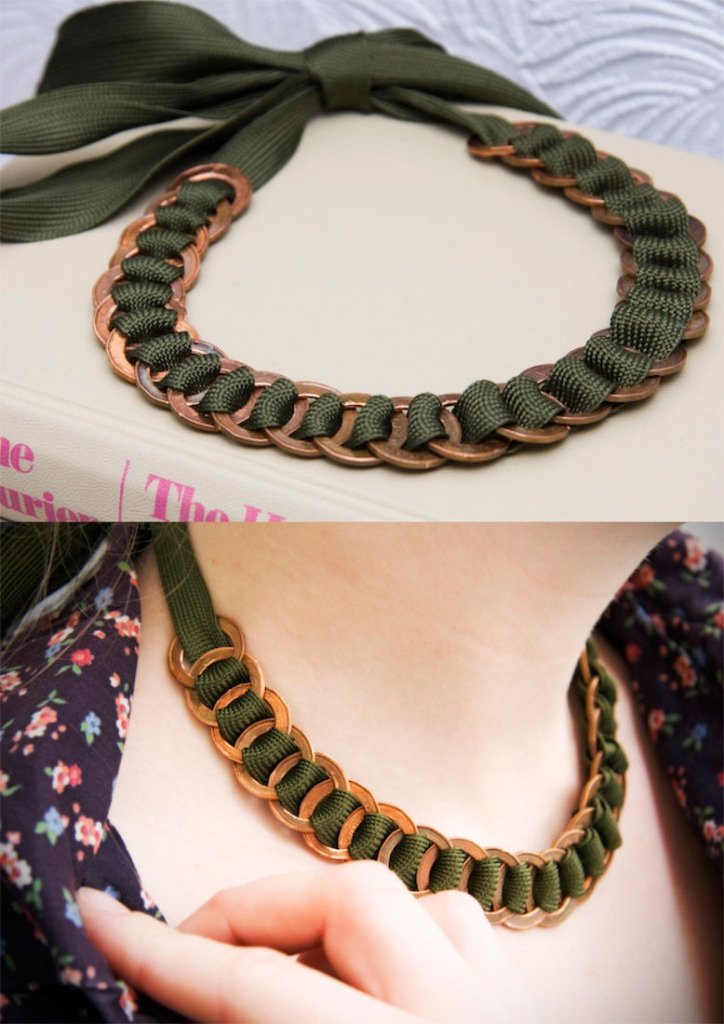 Necklace made out of penny's