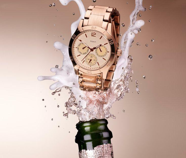 #Rosegold Armbanduhr für €59,95 bei #Tchibo