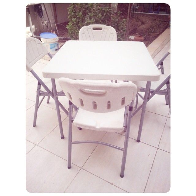 For Sale Dining Table For 4 Person Good Condation Price 50 Bd للبيع طاولة طعام خارجية بحالة ممتازة السعر Outdoor Furniture Outdoor Table Outdoor Decor