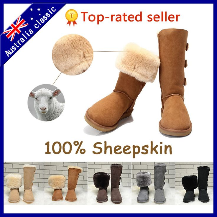 2015 news genuine leather snow boots winter boots sheepskin women boots Australia Classic botas mujer US5-9 ID1873