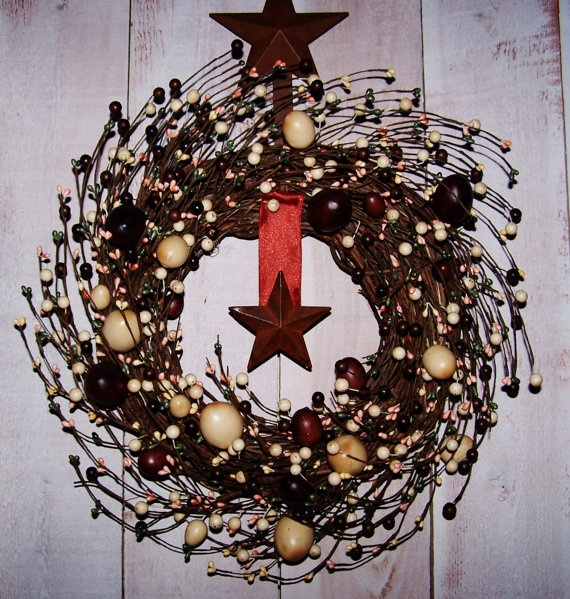 Spring WreathSpring Door Wreath AMERICANA by DesigningCreations, $75.00