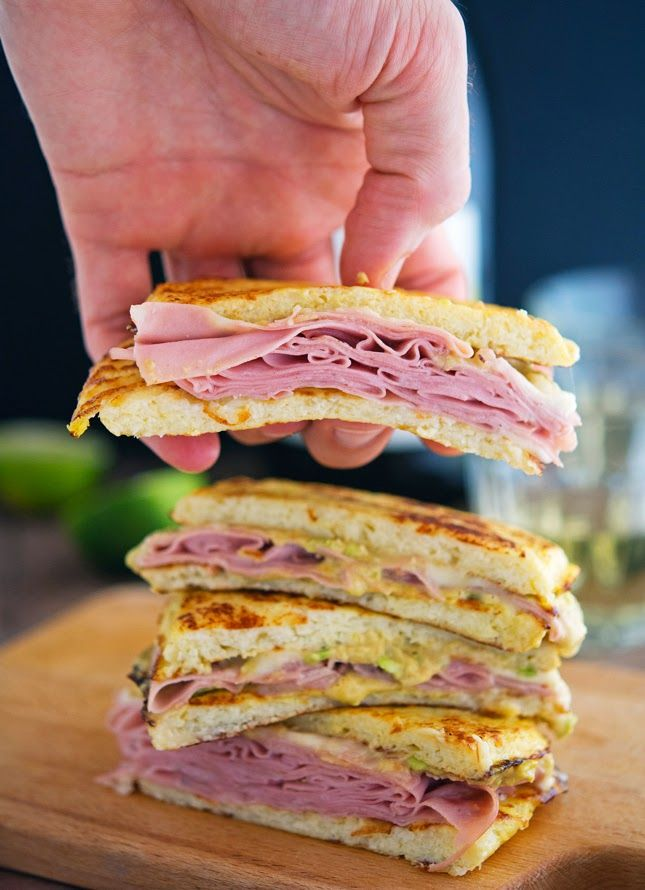 Cauliflower Crust Mortadella and Cheese Panini (Chopped Cooking Challenge) One panini yields 404 calories, 33 grams of fat, 9 grams of carbs and 23 grams of protein