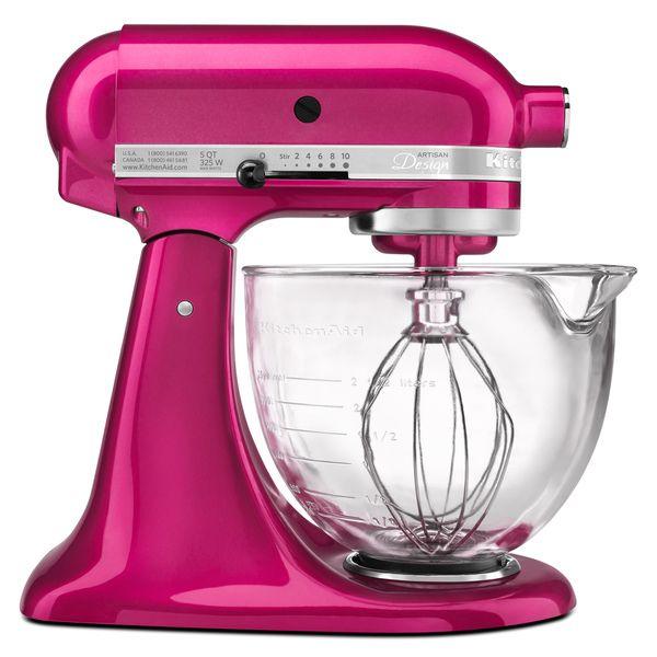 KitchenAid KSM155GBRI Raspberry Ice 5-quart Artisan Design Tilt-Head Stand Mixer