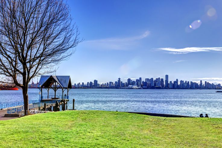 Summer is hear and the views from Lower Lonsdale, North Vancouver of the city  are spectacular