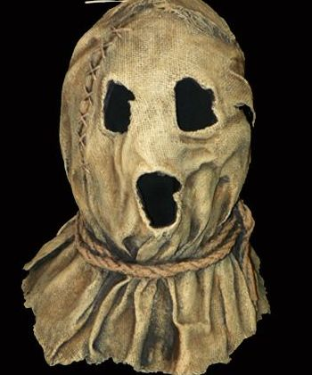 Dark night of the Scarecrow - Gotta potato sack? Gotta scissors? Gotta lotta time on your hands? - #scary #halloween #mask - Click Pic for More Ideas