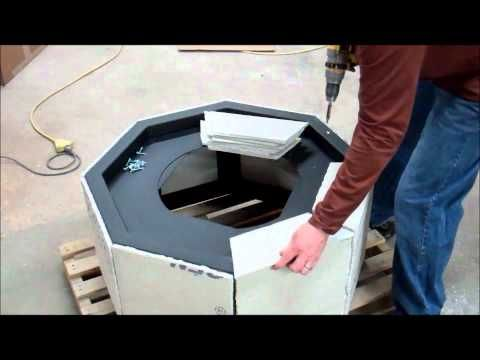 DIY Instructions How to build a gas fire pit - YouTube