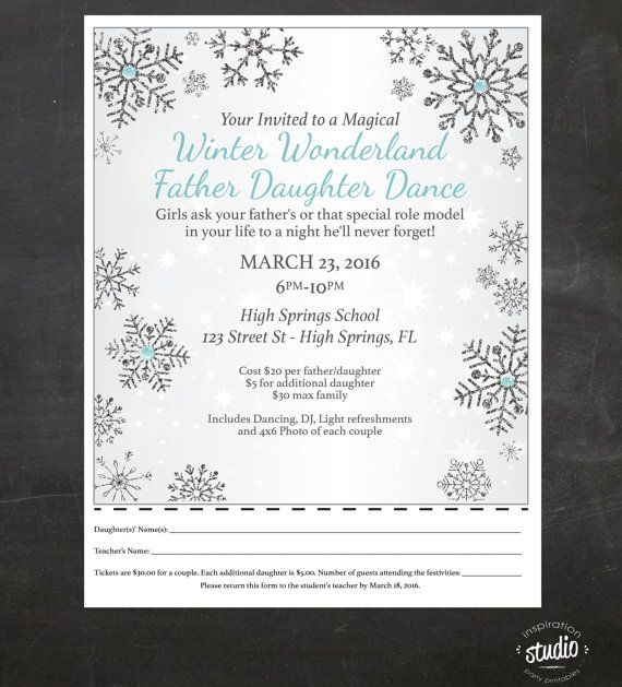 Winter Wonderland Father  Daughter Dance  by jjinspirationstudio