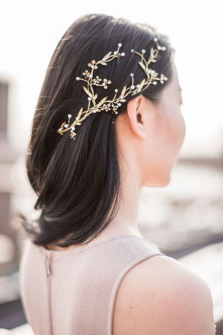Maggie Wu Studio Bridal Accessories #weddinghairstylestotheside