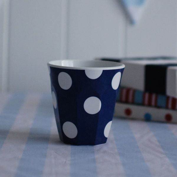 Cup Navy Dots. For more information Please take a moment to visit our website : https://www.redplumlinen.com.au/