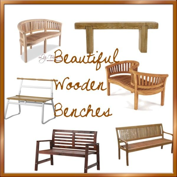 Best 25 wooden benches ideas on pinterest fire pit logs for Beautiful wooden benches