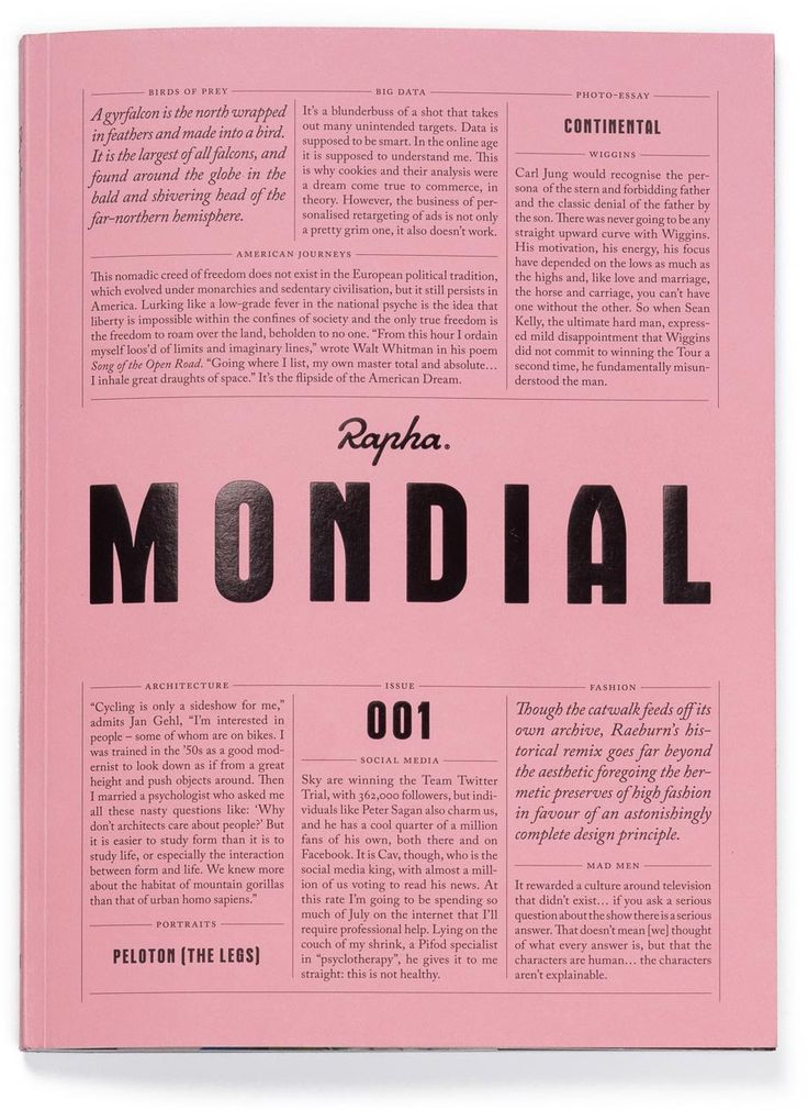 A new magazine from Rapha: The past decade has seen an explosion in cycling media, both online and in print. Rapha believes it is time for the sport to show renewed ambition. Mondial expands the idea of what road cycling is and what the sport can be. Featuring incisive longform writing and stunning photography, in Mondial you will find familiar cycling topics given a fresh new treatment, while a cycling viewpoint is brought to wider cultural subjects, thus broadening the sport's reference…