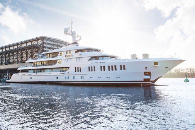 Lurssen Officially Announces Launch of 74m mega yacht AURORA