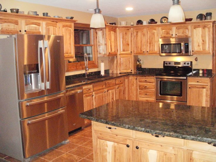 17 best ideas about hickory kitchen cabinets on pinterest for Hickory kitchen cabinets