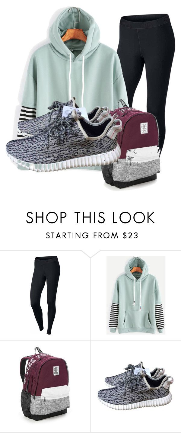 """""""back to school be like"""" by lc112439 on Polyvore featuring NIKE, Victoria's Secret and adidas"""