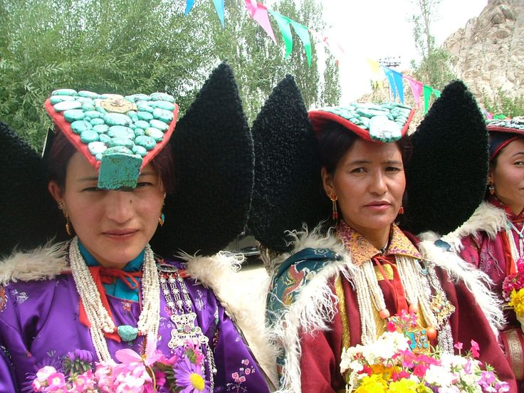 Women in traditional dress in Ladakh Festival  #culture #women #festival #Ladakh #Himalaya @PragyaNGO