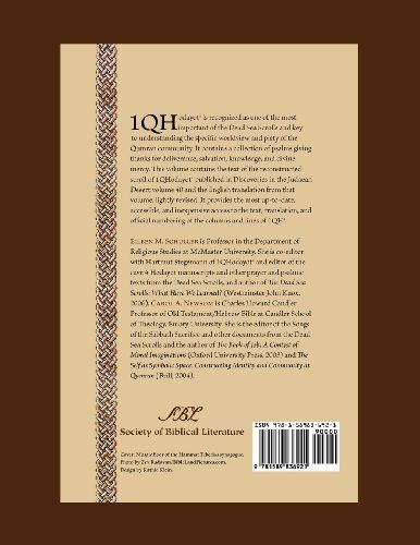 The Hodayot (Thanksgiving Psalms): A Study Edition of 1QHa (Early Judaism and Its Literature) (Socie