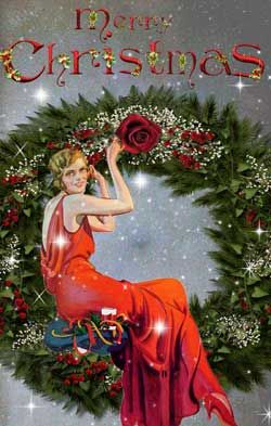 Vintage style Christmas cards from Glamourdaze. Click on image to see the full range of Yuletide greeting cards