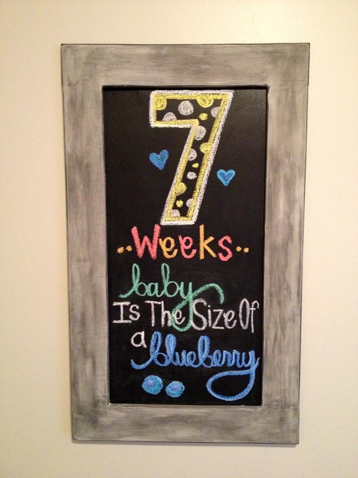 Pregnancy Chalkboard: Week 7