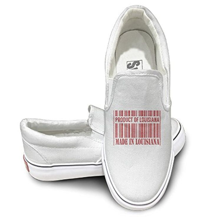 Made In Louisiana Funny Logo Design Vintage Canvas Shoes Sneakers Cool Skate White - Brought to you by Avarsha.com