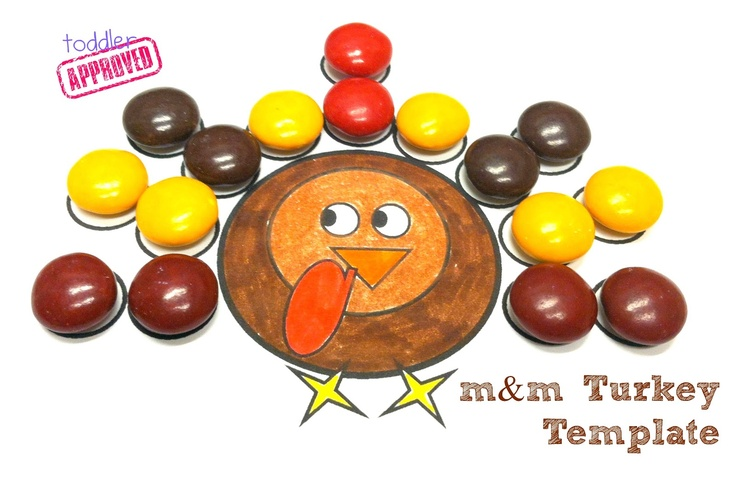 Toddler Approved!: {Thanksgiving Activities} M and M Turkey Template