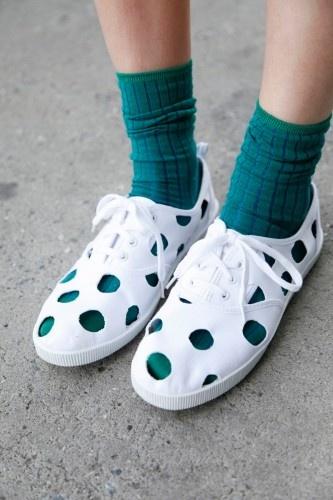 Cut-Out Polka Dot Shoes - cute idea